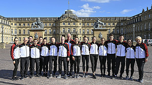 Das deutsche Turn-Team ist bereit für die Heim-WM in Stuttgart. Foto: picture-alliance