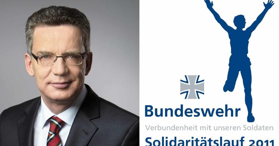 Bundesverteidigungsminister Thomas de Maizière hat die Schirmherrschaft über den Solidaritätslauf übernommen (Quelle: hsu-hh.de)
