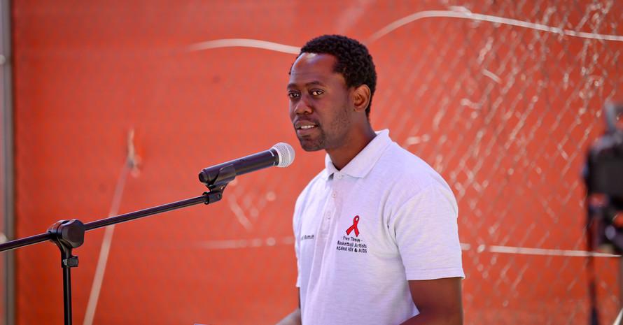 Rede von Ramah Mumba. Foto: Stefan Oosthuizen