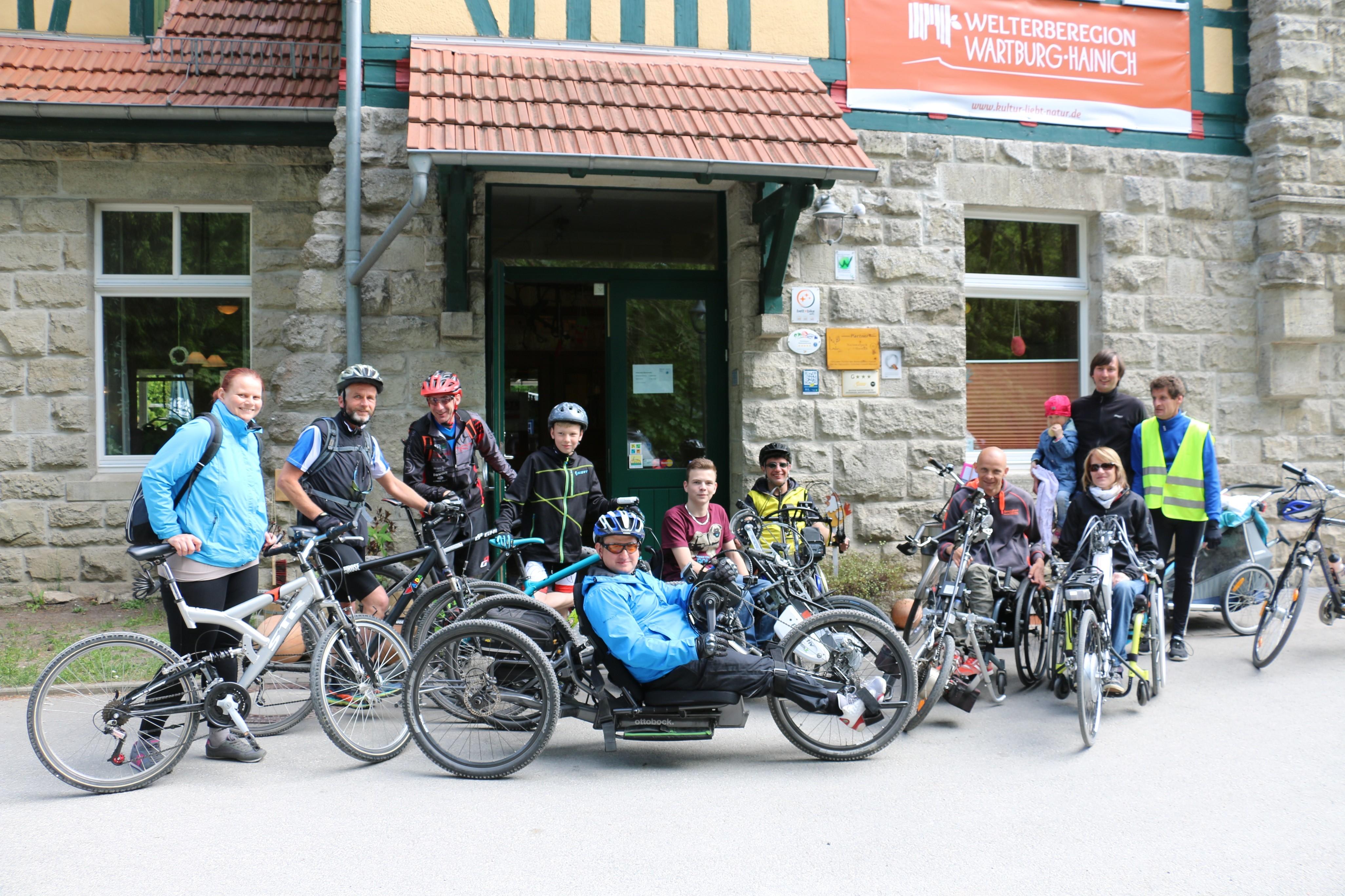 Gemeinsame Radtour in Heyerode Foto: K. Pompe