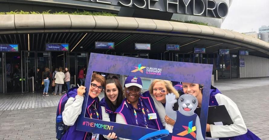 Volunteers bei den European Championships 2018 in Glasgow. Foto: EMC Glasgow 2018