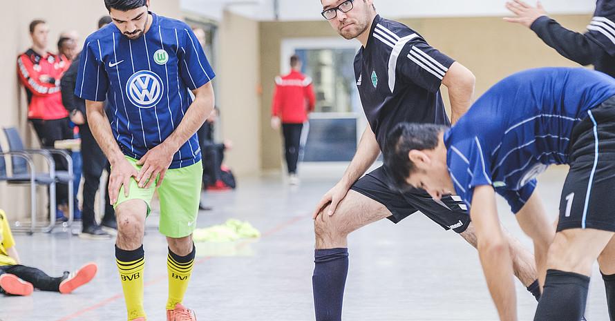 Mostafa Ghaffari 2017 beim Soccer Refugee Coach Cup in Barsinghausen