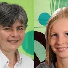 Zwei Portraitfotos von Stephanie Hofschläger und Vera Thamm