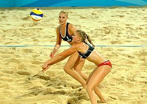 Lisa Arnholdt und Sarah Schneider hatten im Spiel um Platz drei ihre Gegnerinnen aus Russland im Griff.