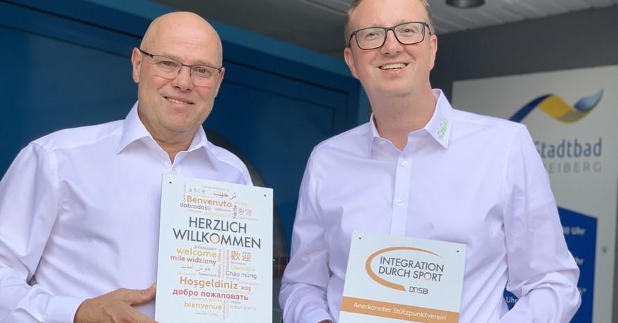 Stefan Dahl, Vorsitzender des SV Freiberg (links), und sein Stellvertreter Daniel Hanke (Foto: privat)