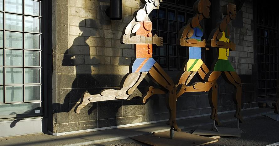 Läuferfiguren im Deutschen Sport & Olympia Museum; Foto: picture-alliance