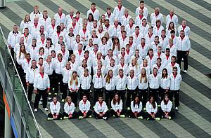 """""""Gebt euer Bestes!"""" lautet die Marschrichtung für die Jugend-Olympioniken bei ihren Sommerspielen in Nanjing. Foto: Hase / picture-alliance / DOSB"""