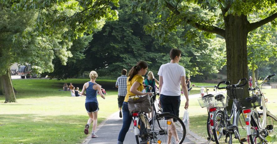 Stadtparke haben für Sport und Bewegung eine wichtige Bedeutung. Foto: LSB NRW