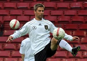 Thomas Hitzlsperger zu seiner Zeit in der Nationalmannschaft. Foto: picture alliance