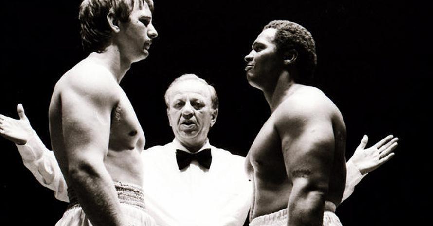 Charly Graf (rechts) in seiner aktiven Zeit: 1985 wurde er Deutscher Meister im Schwergewicht.