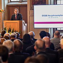 """DOSB-Präsident Alfons Hörmann sprach über die """"breite Sportkultur"""" in Sportdeutschland."""