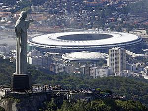 Der Olympia-Park mit Christusstatue. Foto: picture-alliance