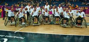 Die Rollstuhlbasketball-Nationalmannschaft der Frauen war vier Mal Mannschaft des Jahres im deutschen Para Sport, Paralympics-Siegerin, und schaffte zwei EM- und zwei Vize-WM-Titel. Foto: Ralf Kuckuck/DBS-Akademie