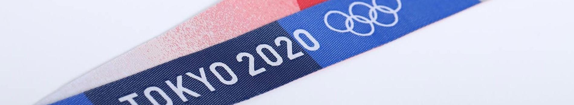 Medaillenband zu den Olympischen Spielen 2020 in Tokio, Japan