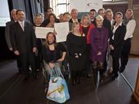Familie Schratz bei der Auszeichnung zur engagiertesten Vereinsfamilie im Januar 2012. Foto:DOSB