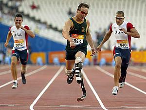 Auch der schnellste Mann auf null Beinen, Oscar Pistorius, kommt nach Bottrop. Copyright: picture-alliance