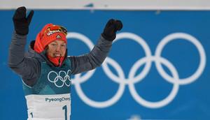 Sie ist bislang die überragende Athletin dieser Winterspiele: Laura Dahlmeier feiert ihr zweites Gold (Foto: Picture Alliance)