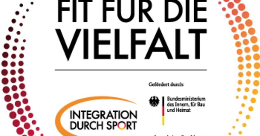 """Logo """"Fit für die Vielfalt; Copyright: DOSB"""