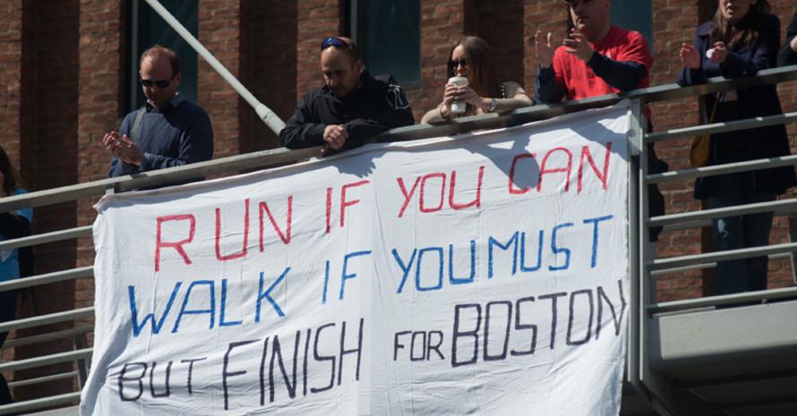 Nicht nur beim London Marathon wurde den Opfern des Anschlags von Boston gedacht. Foto: picture-alliance