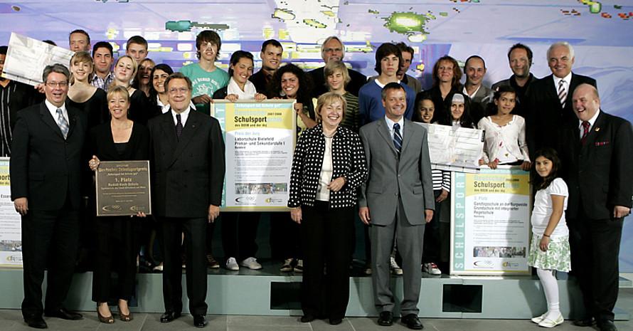 Die Verleihung des Deutschen Schulsportpreises.