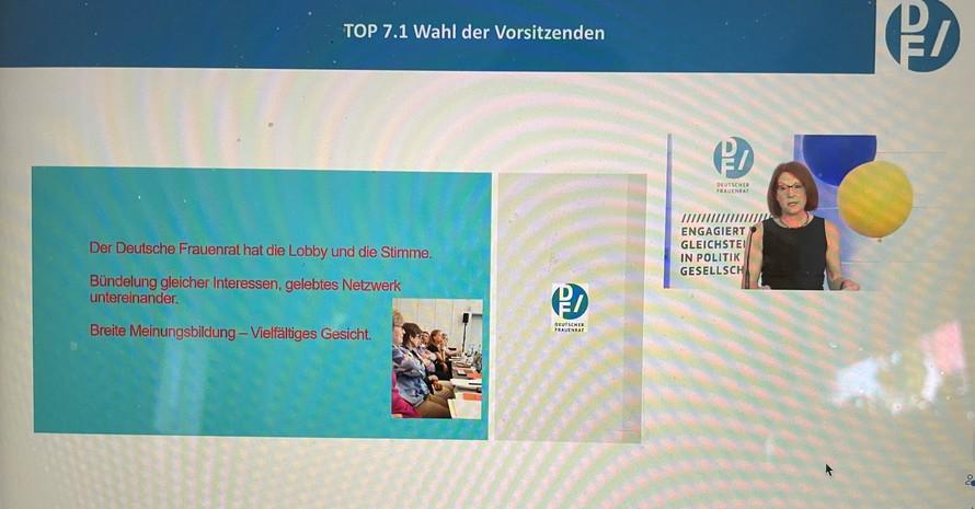 Wahl der Vorsitzenden des Deutschen Frauenrates, Foto: privat