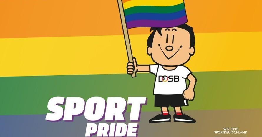 Trimmy und der DOSB unterstützen #SportPride2020. Grafik: DOSB