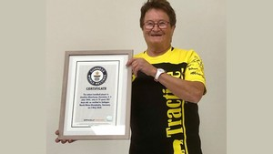 "Josefine ""Susi"" Meerkamp ist ""The Oldest Handball Player"" of the World. Foto: WMTV Solingen / Daniel Konrad"