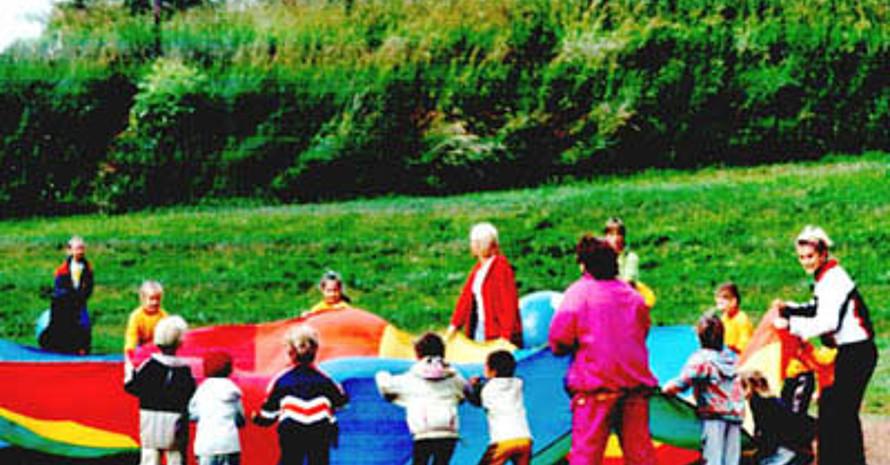 Kindergartensport im brandenburgischen Märkisch-Oderland. Bild: Kreissportbund Mörkisch-Oderland