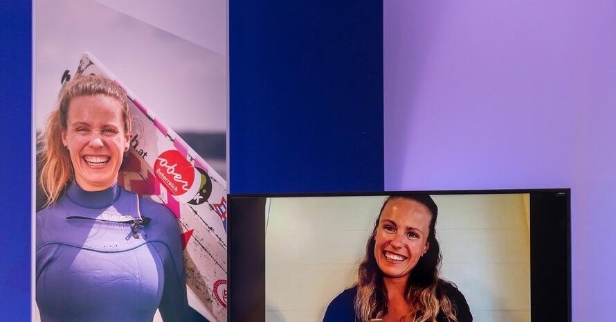 Leonie Meyer war der Preisverleihung per Livestream zugeschaltet. Foto: Deutsche Bank/Florian Gerlach
