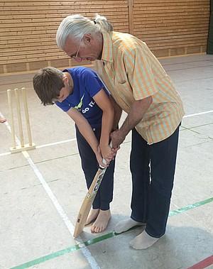 Cricket im SV Kirchanschöring mit Mohammed Zia. Foto: SV Kirchanschöring