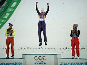 Skispringerin Carina Vogt gewann bei den Olympischen Spielen in Sotschi Gold. Foto: picture-alliance