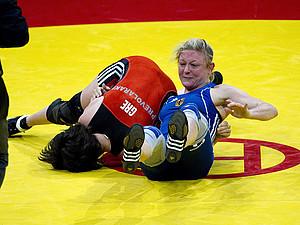 Christiane Knittel wechselte nach ihrer aktiven Laufbahn ins Präsdium des Deutschen Ringerbundes . Foto: picture-alliance