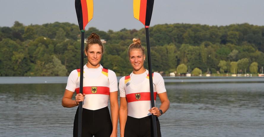 Laut Bundestrainerin Brigitte Bielig hat u.a. der Frauen-Doppelzweier mit Marie-Sophie Zeidler (li.) und Lisa Gutfleisch gute Chancen, bei der EM ganz vorne mitzufahren. Foto: DRV/Seyb