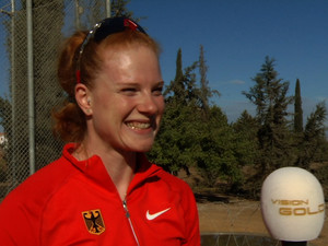 Betty Heidler wurde von Vision Gold beim Training begleitet. Foto: N24/Schmidt Media