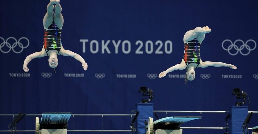Die Wasserspringerinnen Tina Punzel und Lena Hentschel bescheren dem Team Deutschland die erste Medaille in Tokio. Foto: picture-alliance