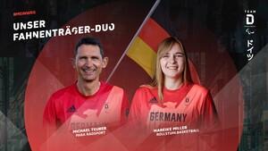 Das Duo Mareike Miller und Michael Teuber wird das Team Deutschland Paralympics bei der Eröffnungsfeier der Spiele in Tokio ins Stadion führen. Foto: DBS