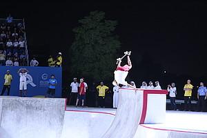Tyler Edtmayer startete in der Disziplin Skateboard Park bei den ANOC World Beach Games für Team Deutschland (Foto: DOSB)