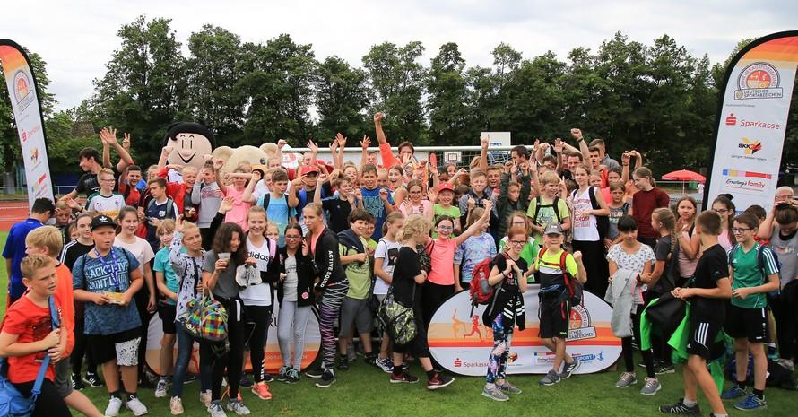 Rund 1.800 Kinder hatten bei der Sportabzeichen-Tour  am 12. Juli richtig viel Spaß. Foto: Treudis Naß