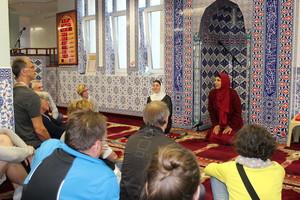 Besuch der Teilnehmenden der IDS-Jahrestagung ind er ISlamischen Gemeinde Nürnberg. Foto: Kram/IDS