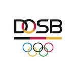 Farbiges DOSB-Logo mit Olympischen Ringen