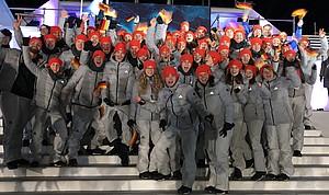 Das Jugend Team Deutschland im Olympiastadion von 1984