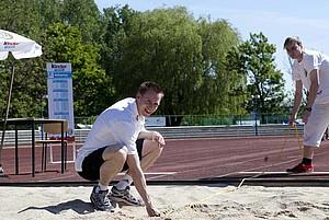 Auf den Botschafter für kinder+Sport wartet in Schwalmstadt-Treysa eine eine besondere sportliche Herausforderung (Foto: Meike Engels)