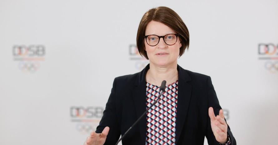 """Veronika Rücker, Vorstandsvorsitzende des DOSB unterstützt mit voller Überzeugung die Allianz der """"Hamburg Declaration"""". Foto: DOSB"""