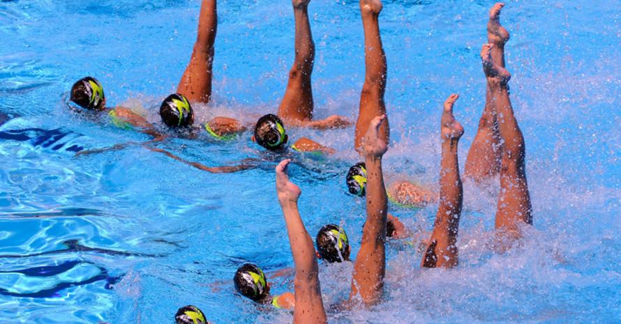 Mitreißende Choreographien und athletische Höchstleistungen im Wasser, elegant und scheinbar spielend präsentiert. Copyright: picture-alliance