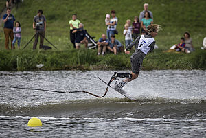 Giannina Bonnemann bei ihrem Tricklauf. Foto: IWGA