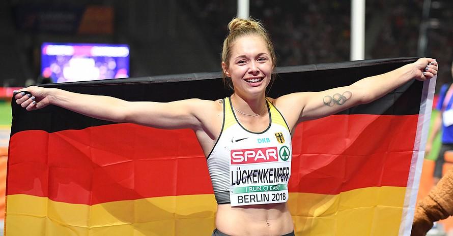 Vize-Europameisterin Gina Lückenkemper wird das Jugend Team Deutschland als Mentorin und Berichterstatterin begleiten. Foto: picture-alliance