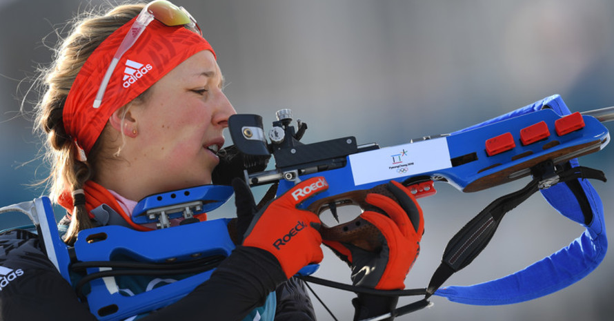Fehlerfrei: Bei ihrem ersten Einsatz in PyeongChang wird Franziska Preuß großartige Vierte