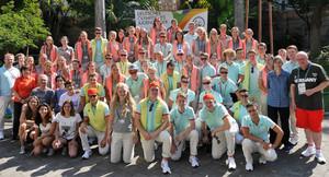 Die Teilnehmerinnen und Teilnehmer des Deutschen Olympischen Jugendlagers in Rio de Janeiro. Foto: DOJL