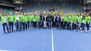 Gesucht werden Volunteers für den Davic Cup in Düsselsdorf. Foto: DTB/Oliver Müller