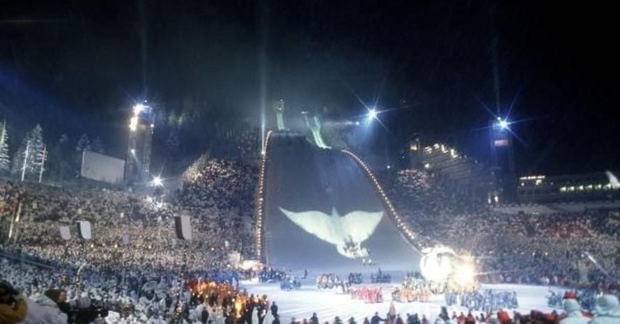 Die Eröffnungsfeier der Olympischen Winterspiele in Lillehammer 1994. Foto: picture-alliance